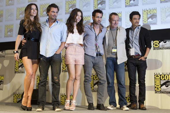 The Total Recall cast and crew at Comic Con, July 2011