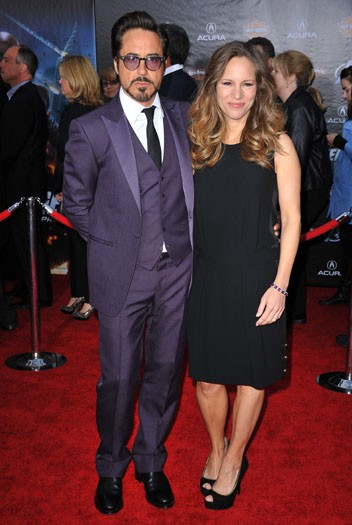 Robert Downey Jr and his wife Susan