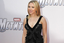 Scarlett takes the plunge in Nina Ricci at Avengers premiere in Moscow