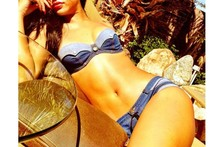 Rihanna flaunts her figure in skimpy denim bikini on Instagram