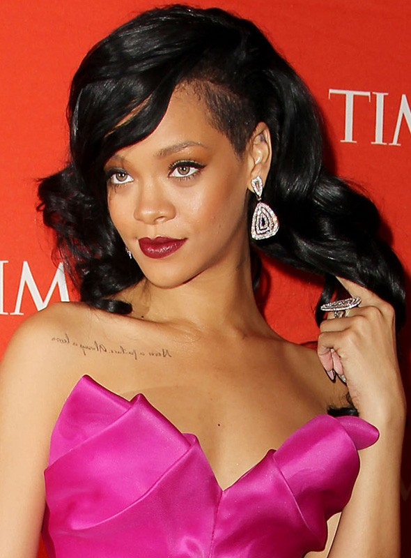RIhanna at the Time 100 gala in pink Marchesa