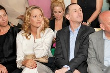 Uma Thurman shows off her baby bump at Lanvin bash