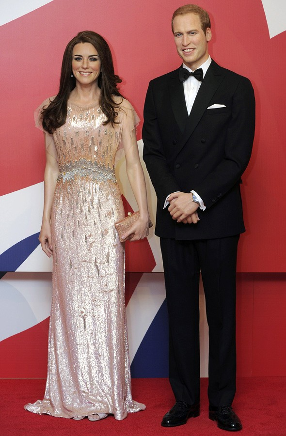 William and Kate waxworks in Blackpool