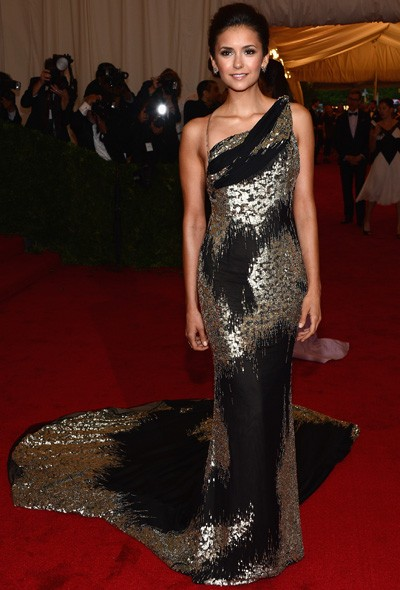 Nina Dobrev in Atelier Donna Karan