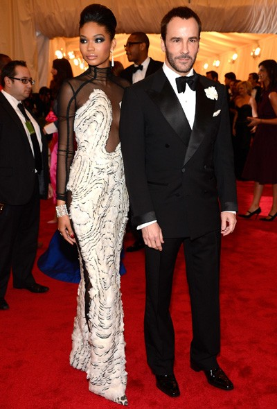 Chanel Iman in Tom Ford, and Tom Ford