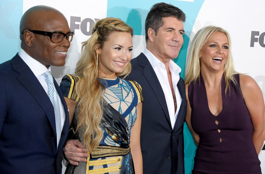 LA Reid, Demi Lovato, Simon Cowell and Britney Spears