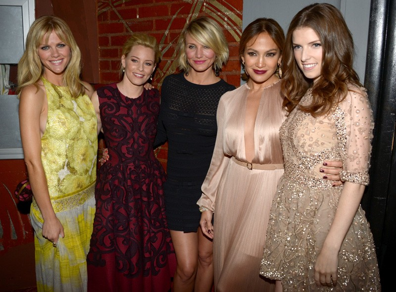Brooklyn Decker, Elizabeth Banks, Cameron Diaz, Jennifer Lopez and Anna Kendrick at the LA premiere