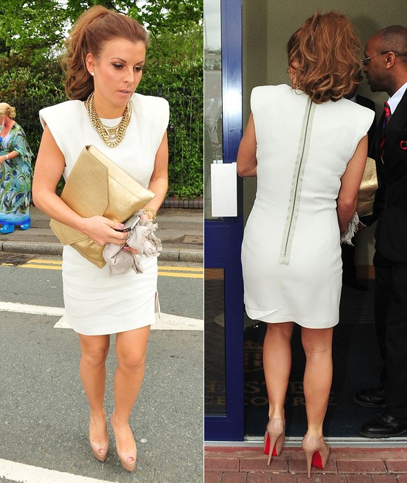 Coleen Rooney is all-white at the races again - which look was cuter?