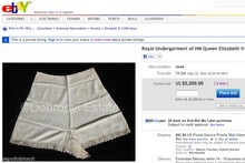 So apparently the Queen's knickers are for sale on eBay...