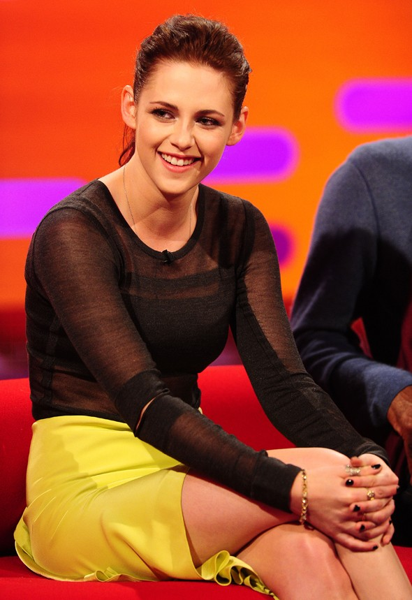 Kristen Stewart goes sheer up top for Graham Norton Show