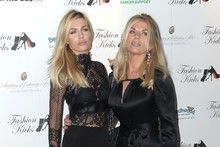 Like mother like daughter: Abbey Clancy and her mum get gothic for Fashion Kicks