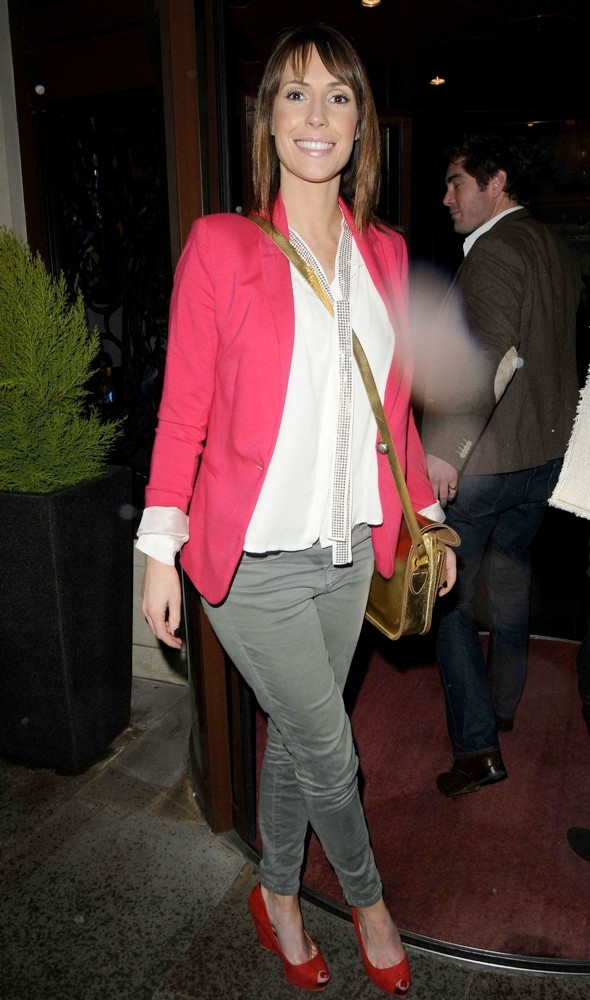 Spring style: Alex Jones' hot pink blazer