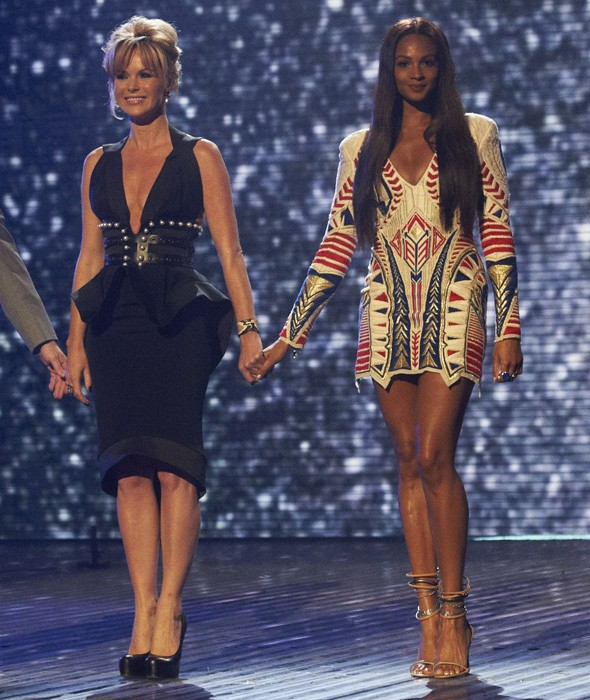 Amanda Holden and Alesha Dixon on the Britain's Got Talent stage