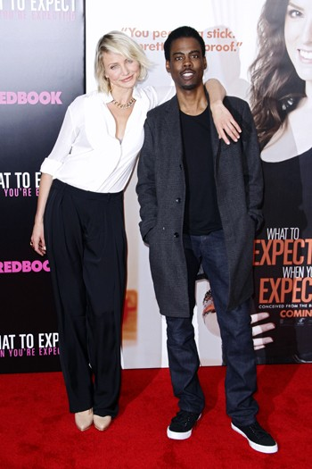 Cameron Diaz and Chris Rock at the New York premiere