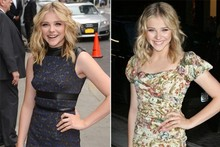 Coming of age: Chloe Moretz does grown-up glam (twice in one day)