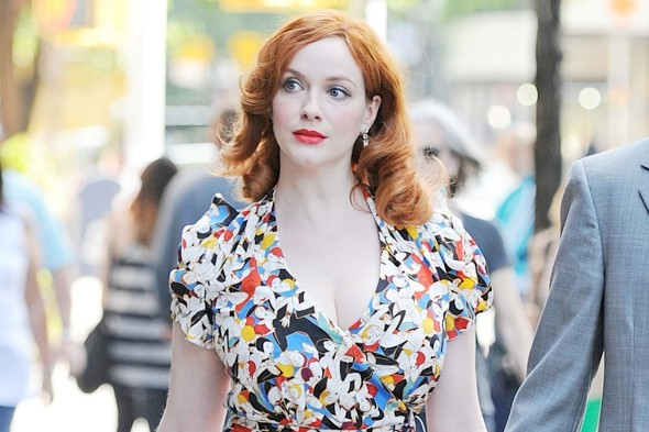 Hot or not: Christina Hendricks' wedding style