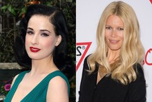 Beauty look of the week: Dita Von Teese vs Claudia Schiffer