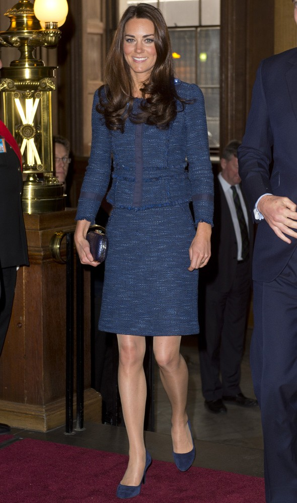 Duchess Kate in a tweed Rebecca Taylor suit