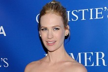 January Jones makes us jealous in amazing Mary Katrantzou dress