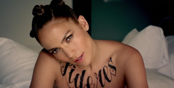 Jennifer Lopez shows off new tattoos in Follow the Leader video