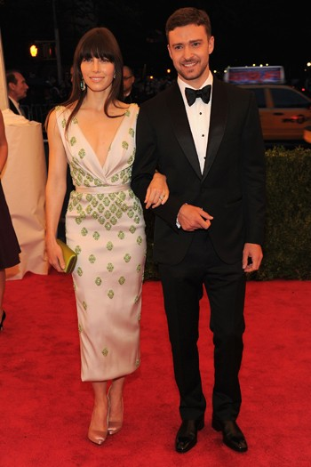 Jessica Biel in Prada and Justin Timberlake