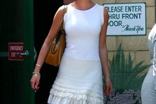 Katherine Heigl does her best Marilyn Monroe impression in LA