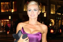 Katherine Jenkins shows off new dancer physique in strapless corset dress