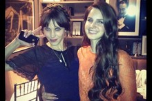 Stylish pals: Alexa Chung and Lana Del Rey bond at Mulberry dinner