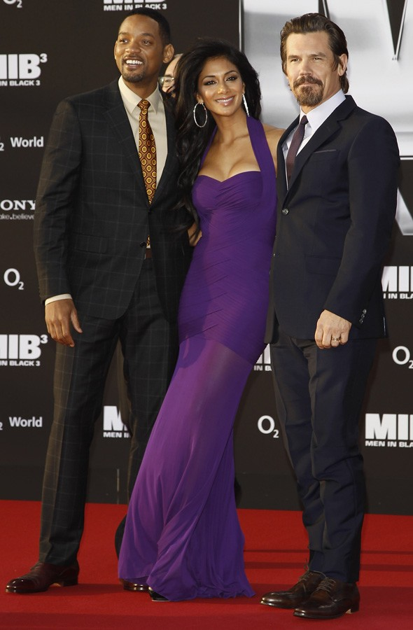 Will Smith, Nicole Scherzinger and Josh Brolin at the Men in Black 3 premiere