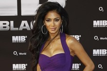 Sheer delight: Nicole Scherzinger means business at Men in Black 3 premiere