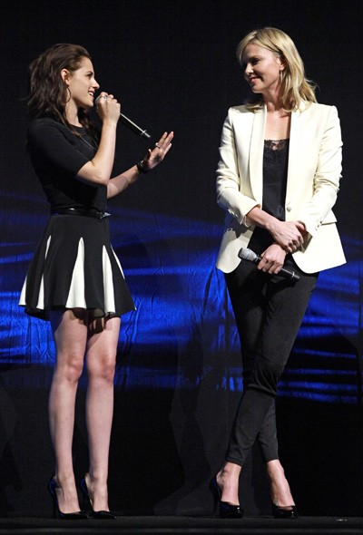 Kristen Stewart and Charlize Theron at CinemaCon, Las Vegas