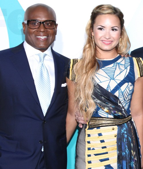 LA Reid and Demi Lovato