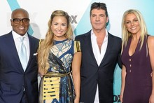 It's official! Britney Spears & Demi Lovato attend X Factor USA photo call