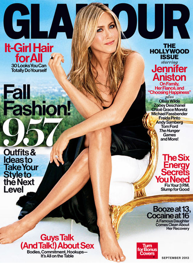 jennifer aniston talks to glamour magazine