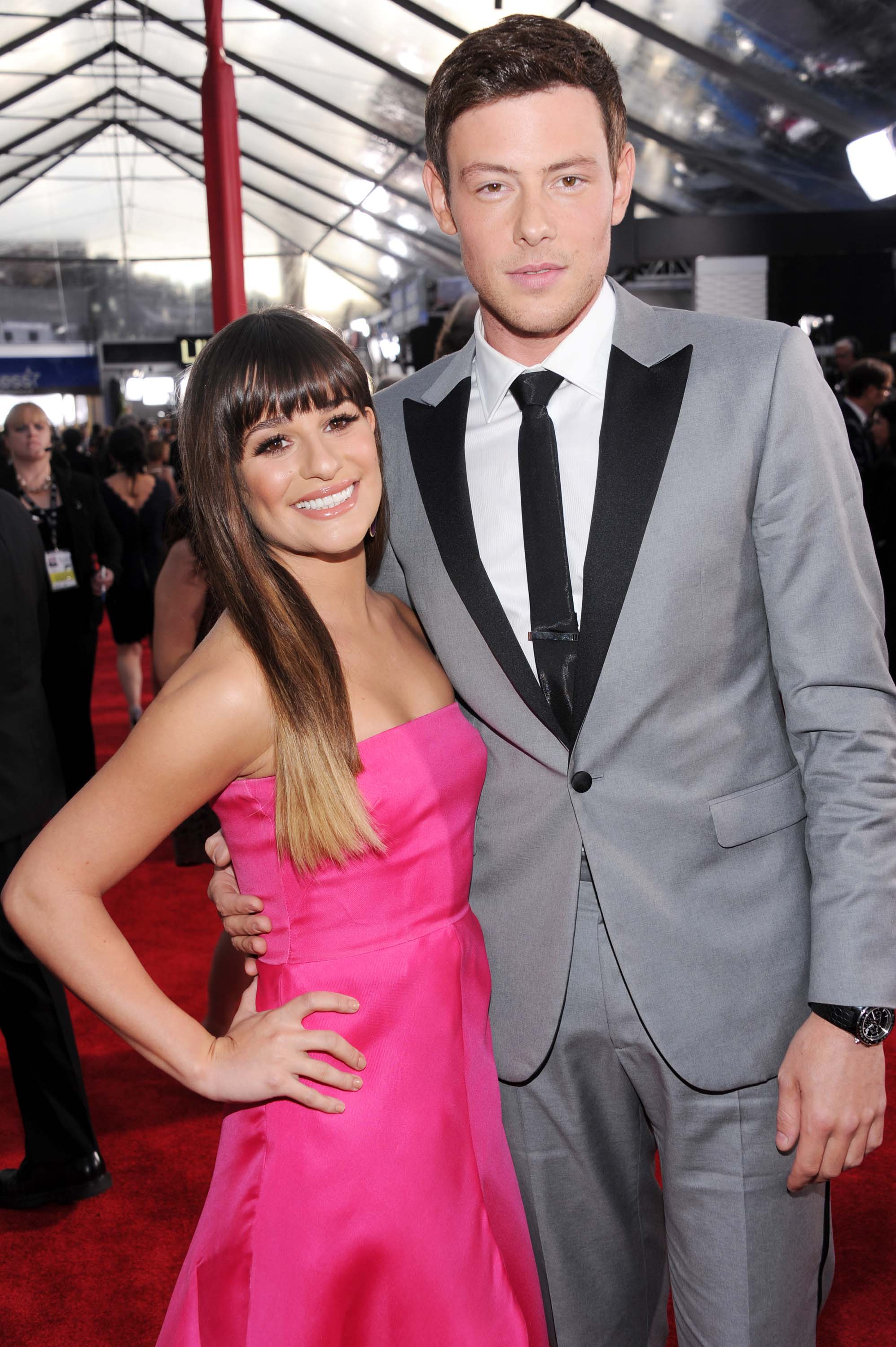 Lea Michele and Cory Monteith