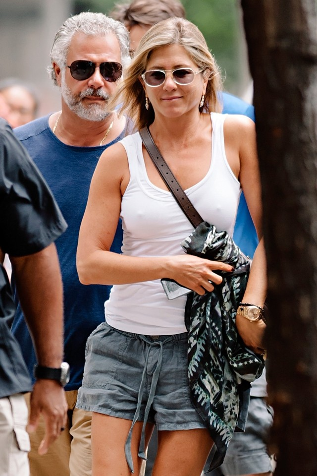 Summer In The City! Jennifer Aniston Does Drawstring Shorts
