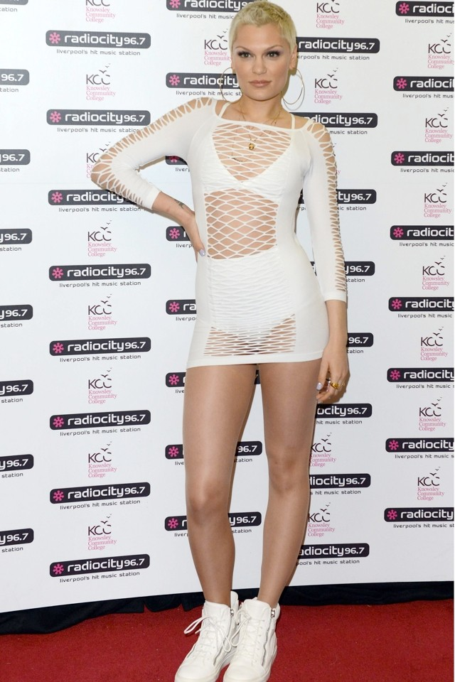 That's Brave! Jessie J Dares To Bare In Fishnet Dress At Radio City Live