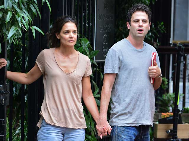 Katie Holmes and Luke Kirby on the set of Mania Days, New York