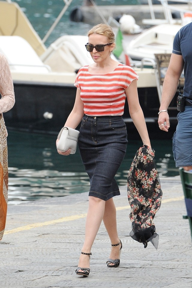 Kylie Does Nautical But Nice On Holiday In Portofino