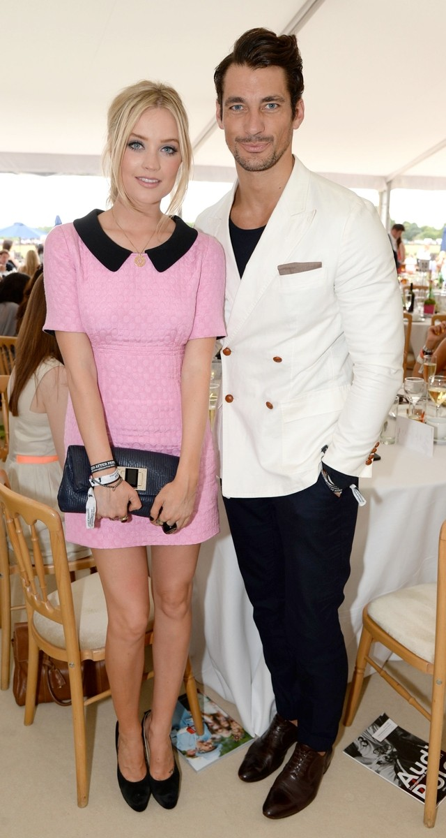 Laura Whitmore Does Perfect Pink Polo Style With David Gandy