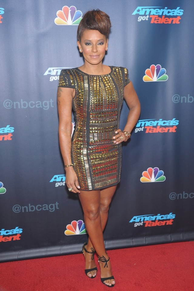 Heidi Klum And Mel B Both Do Sparkly Minis For America's Got Talent Post-Show Bash