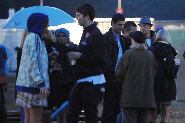 prince harry & cressida bonas spotted at womad