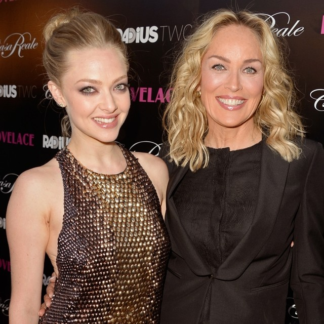 Finally! Amanda Seyfried Outshines Sharon Stone At Lovelace LA Premiere