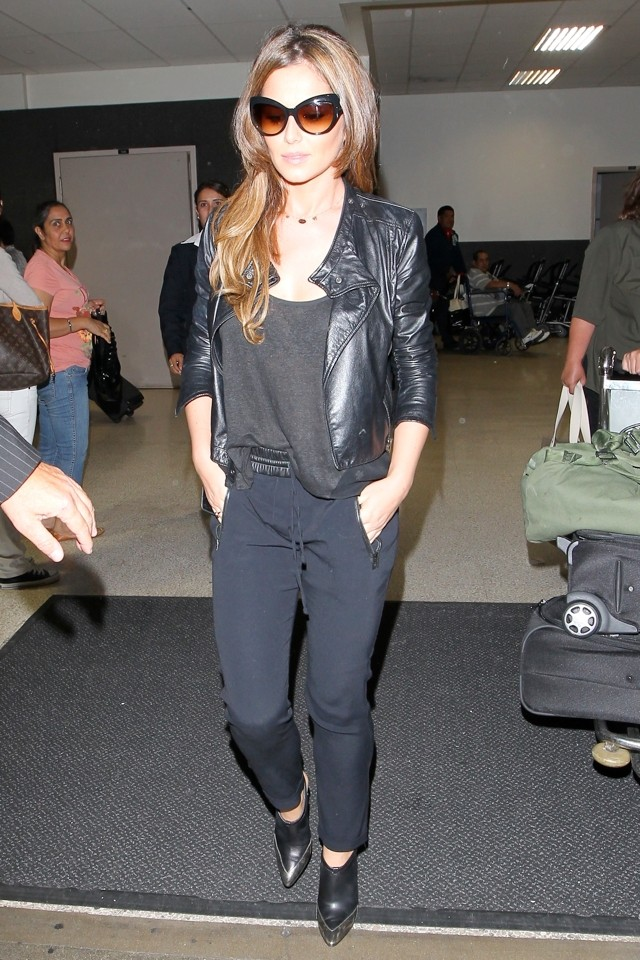 Cheryl Cole's Cool Back To Black Airport Chic