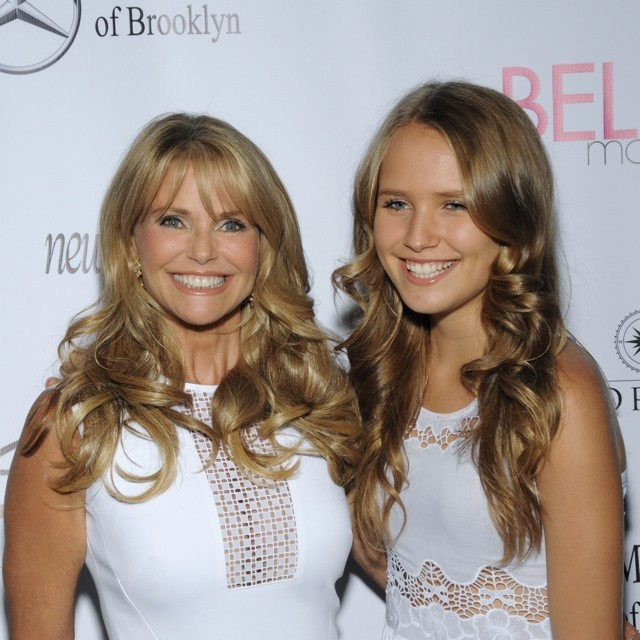 Twins! Christie Brinkley And Daughter Sailor Cook Look Like Sisters In The Hamptons