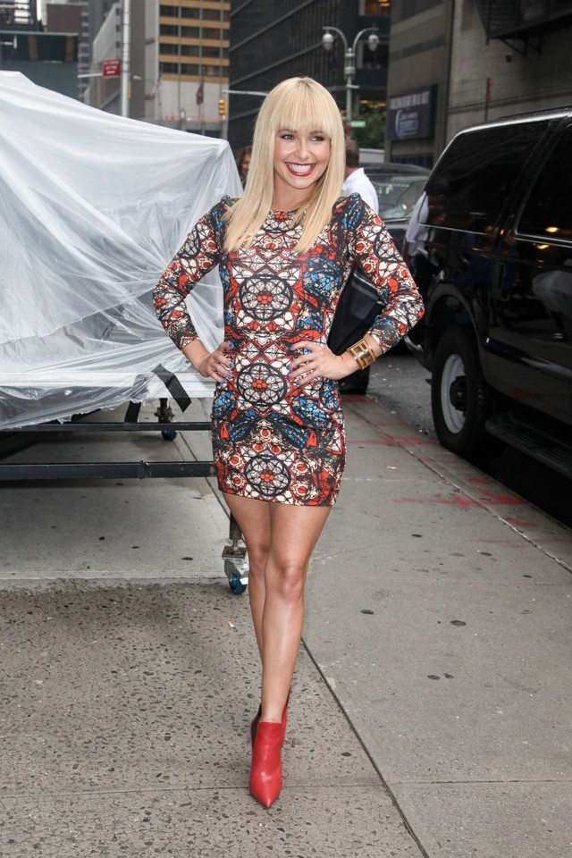 Hayden Panettiere's New Blonde Fringe: Is She Morphing Into Paris Hilton?