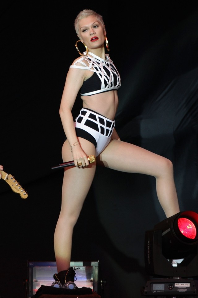 Bra-vo! Jessie J Rocks V Festival In Monochrome Two-Piece