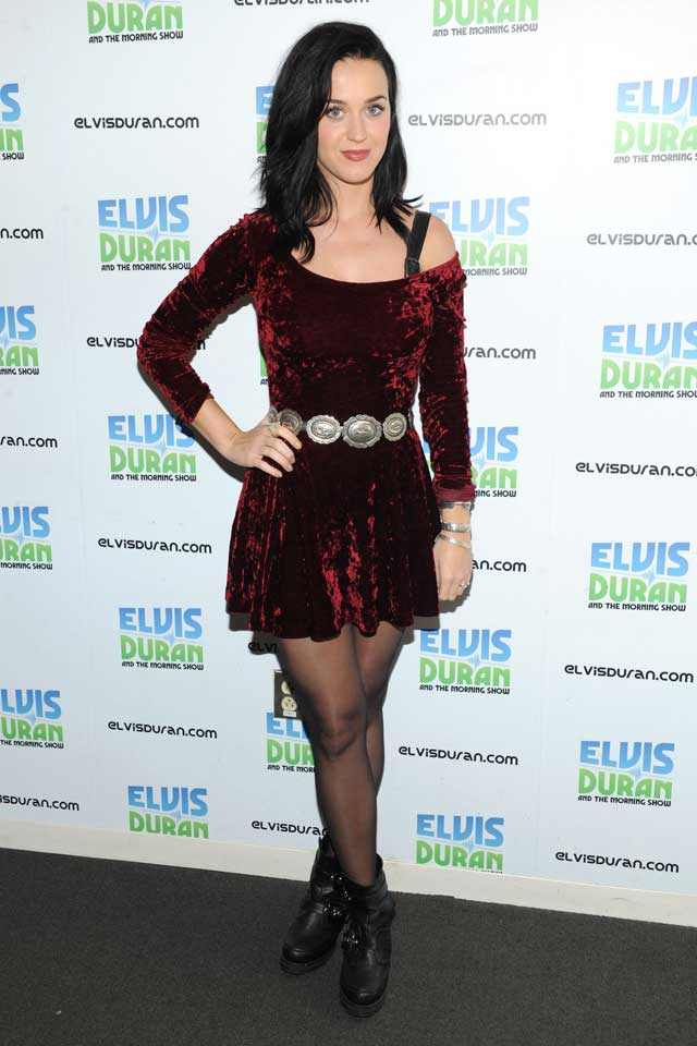 Katy Perry's New Style Staple: The Little Red Velvet Dress