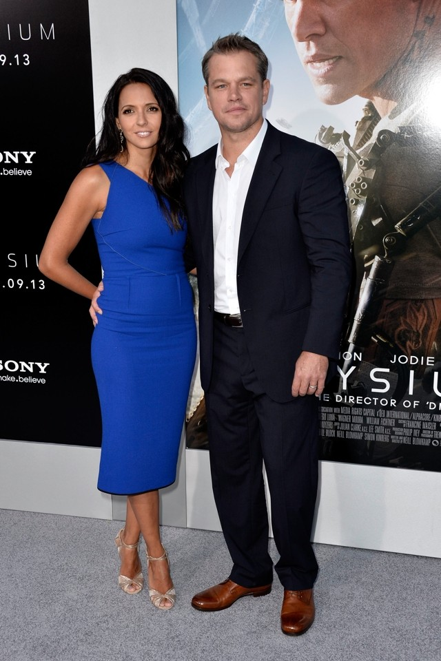 Matt Damon's Wife Luciana Steals His Thunder At Elysium LA Premiere