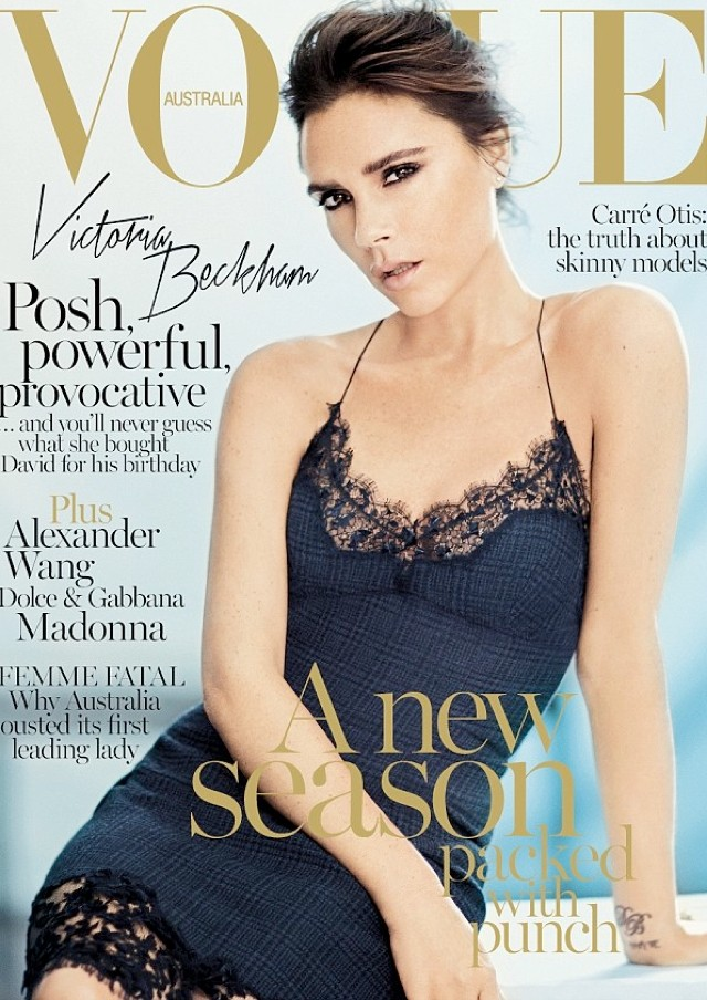 Victoria Beckham Graces Vogue Australia September Cover - And Opens Up About 'Normal' Family